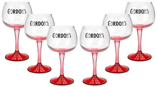 Gordons Gin Premium Pink Glas Longdrinkglas Ballonglas Cocktailglas Gläser Set - 6 Stück