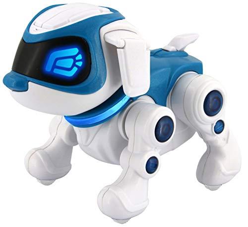 Splash Toys 30663 - TEKSTA Roboter Hund 360, elektronisches Haustier, Roboterhund, macht Saltos, tanzt, reagiert auf Ansprache, zeigt Gefühle, viele weitere Spielmöglichkeiten per App