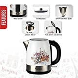 Warmex Bonjour 1.2 Liter 1800 Watts Electric Kettle (White & SS)