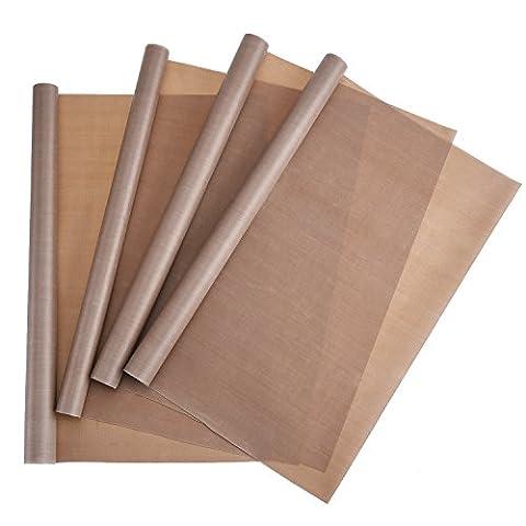 Blulu 4 Pieces PTFE Sheet Non Stick Craft Mat Heat Press Transfer Sheet, 16 by 20 Inch
