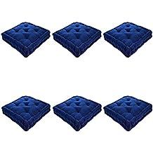 Nicola Plaza Primavera francesa acolchado colchón para silla de comedor cojín de asiento Pad - Azul