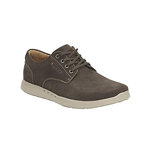 Clarks Men's Unstructured Lace-Up Trainers Shoes Unlomac Edge Brown Nubuck