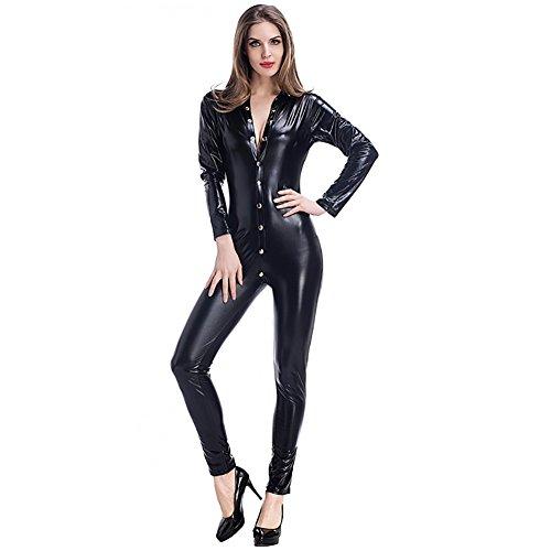 leder-Catsuit Clubwear DS-Latex-Katzen-Frauen-Fantasie-Kostüm-Overall ()