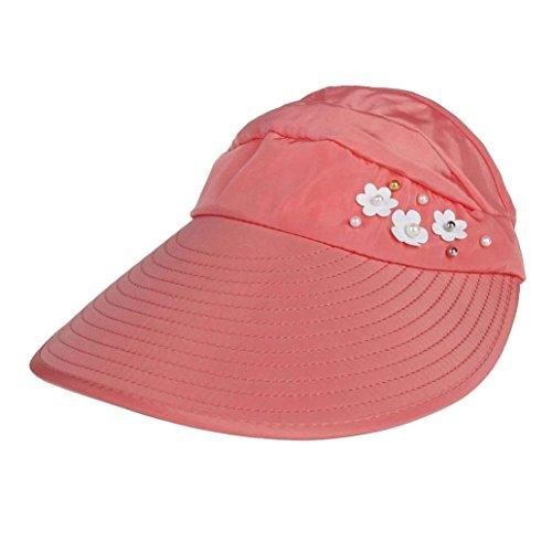 UFACE Frauen Outdoor Strand Sonnenschutzkappe UV Schutz Caps Sonnenblende Hut (Wassermelonenrot)