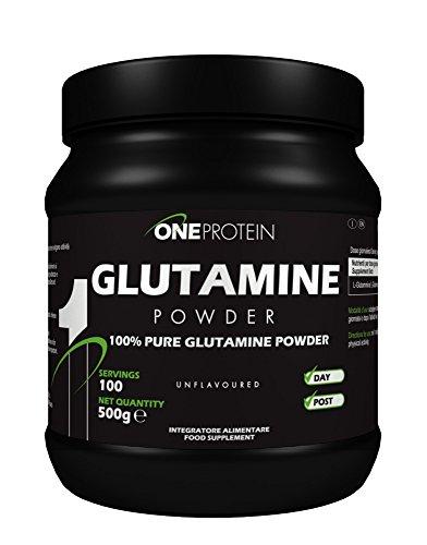 Glutamine Powder integratore alimentare a base di L-Glutammina in polvere (500 grammi)