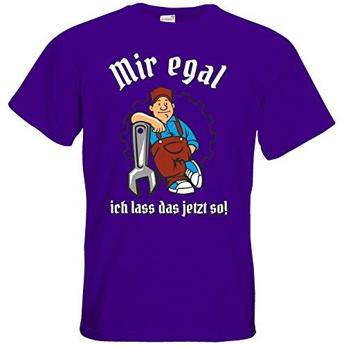 getshirts - RAHMENLOS® Geschenke - T-Shirt - Mir egal Purple