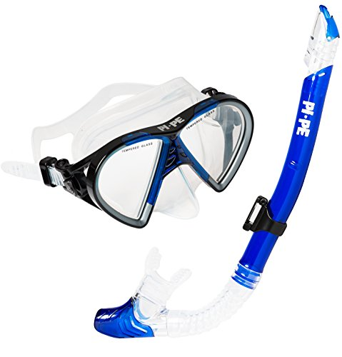 PI-PE Taucherbrille& Schnorchel Set Active Blue