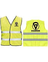 Güldner Warnweste | Sicherheitsweste | Gelb | Brust- und Rückendruck