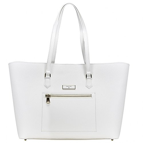 Patrizia Pepe Candy Cadillac Shopper Borsa tote Pelle 36 cm Bianco