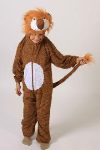 Foxxeo Löwenkostüm Kostüm für Kinder Größe 110-116