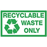 from TheStickerShop Recyclable Waste Bin Sticker - Recycling Premium Quality Sticker - The Sticker Shop