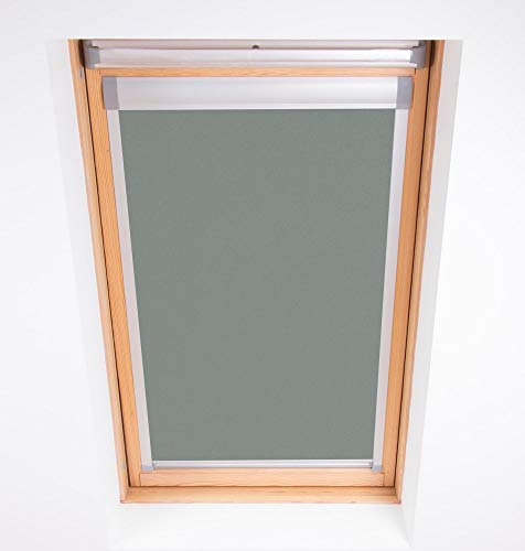 Bloc Skylight 206 Rollo für Velux Dachfenster Blockout, Zinn