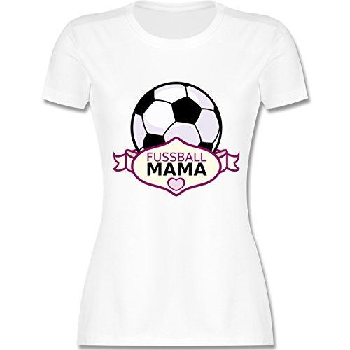 Shirtracer Muttertag - Fußball Mama - Damen T-Shirt Rundhals Weiß