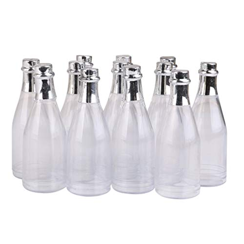ing Baby Shower Party Favors Dekoration Kunststoff Champagner Süßigkeiten Flaschen Pack von 12 ()