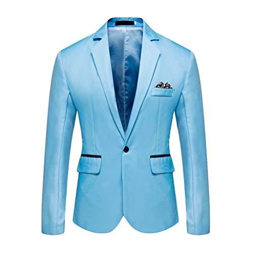 JKLEUTRW Herren Anzug, Classic Männer Mode Blazer Anzug Jacke Solide für Business Hochzeit Party Outwear Mantel Anzug Tops Veste Kostüm Arbeit Smoking Blazer - Veste Kostüm