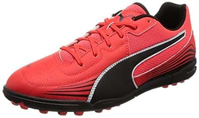 Puma evoSTREET 3 F6 - Chaussure de Football - Mixte Adulte - Noir (Blk/WHT/Red) - 44.5 EU (10 UK)
