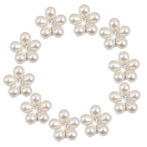 Phenovo Kristall Rhinestone Perlen Blumen Knöpfe Diy Wedding Bouquet 10 Stk.