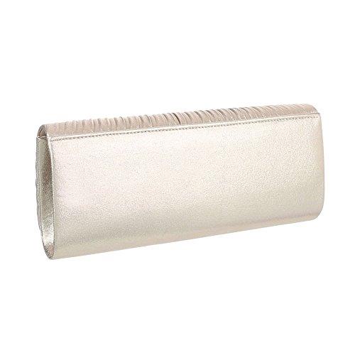 Taschen Used Optik Schultertasche Modell Nr.5 Gold