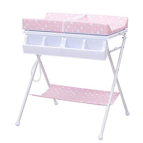 Tables à langer Et Baignoire Bébé Rose Unité Diaper Table Unité Centre De Soins Table Pliante Multi-Fonctions Table De Douche