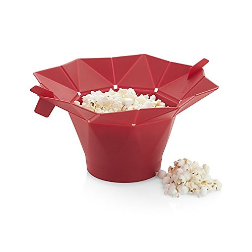 Microwave Popcorn Popper for best fat free Popcorn. Silicone Bowl Maker by Partymaster Popcorn Maker