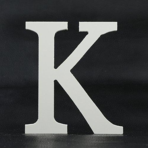 Weiße Holzbuchstaben für Bastelarbeiten, Zuhause, Büro, Wand, Hochzeit, Party, Geburtstag, Dekorationen usw., holz, K, Einheitsgröße
