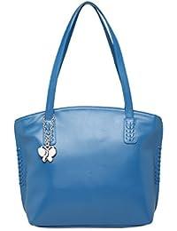 Butterflies Women Handbag (Sky Blue) (BNS 0647SBL)