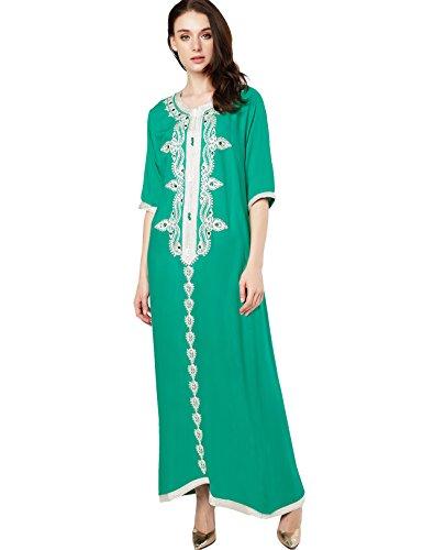 Foto de Musulmán islámica abaya / jalabiya kaftan caftán dubai maxi vestido largo para las mujeres ropa vestido de rayón 1715