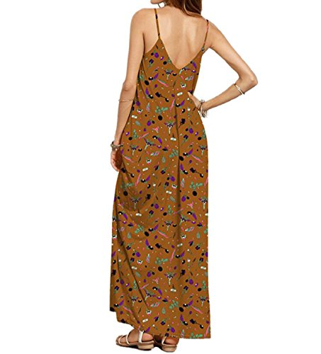 Maxi Dress, DINGANG Women Elegant Bohemia Sleeveless Party Evening Dress with Floral Print Size M-2XL Multicolor9