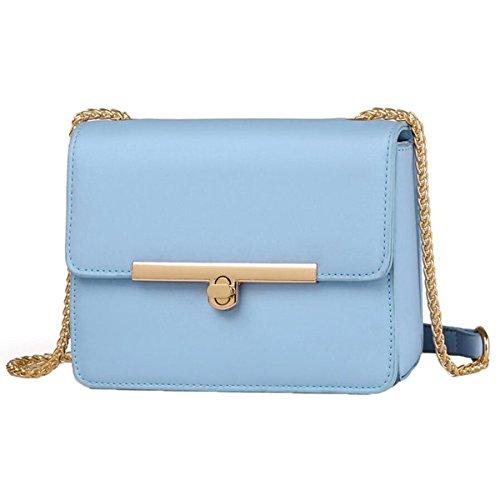 WU Zhi Dame-Schulter-Beutel-Sommer-beiläufige Kleine Quadratische Beutel-Kurier-Beutel-Handtasche Blue