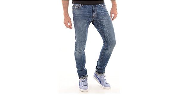 Guess M44AN1D1JR4 BLEU | Vêtements Jeans slim Vêtements