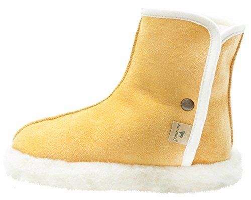 Alwero Woolnite 2-Pantofole in calda lana Yellow