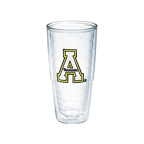 Tervis 1007073 Appalachian State University Emblem Individual Tumbler, 24 oz, Clear by Tervis