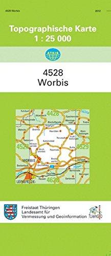Worbis: 4528 (Topographische Karten 1:25000 (TK 25) Thüringen (amtlich))