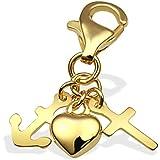 Goldmaid Damen-Charm Liebe,Glaube, Hoffnung 333 Gelbgold Gch A4152GG