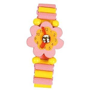 Bino Mertens 9987119 - Reloj de Madera, Color: Rosa