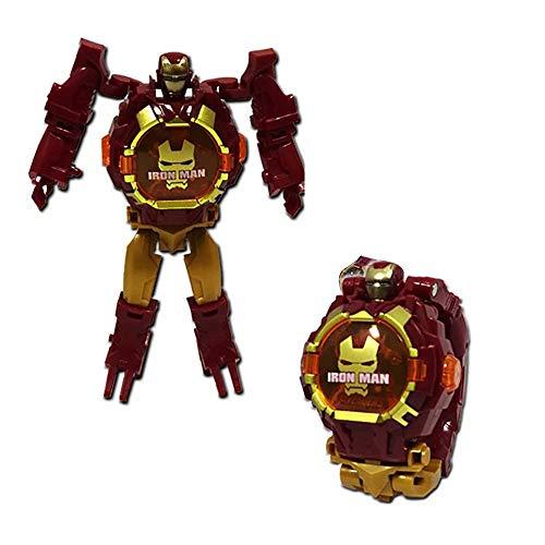 Verwandeln Spielzeug Roboteruhr 3-in-1 Verformung Kinder Digitaluhr Verformung Roboter Spielzeug für 3,4-12Jahre alt Jungen Mädchen elektronisches Lernen Geschenke, pädagogisches Spielzeug Spiel Uhr