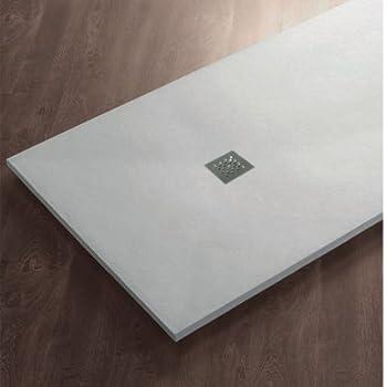 Piatto doccia in pietra SolidStone alto 2,8 cm - Bianco (80x120 ...