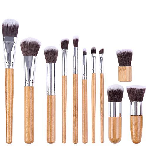 11 Pièce Poignées En Bambou Pinceaux De Maquillage Fondation Mélanger Blush Correcteur Yeux Cosmétique Professionnel Cosmétique Brush