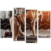 islandburner Tableau Tableaux sur Toile Musculation Classique Femme Blonde  musclée c7a4fdcb7de