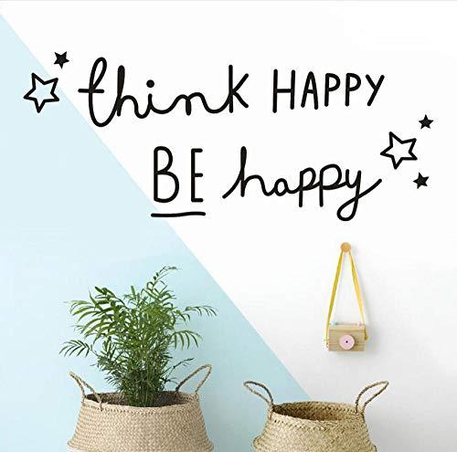 Kreative Wand Denken Happy Happy Zitate Wandaufkleber Home Decor Wohnzimmer Schlafzimmer Kinderzimmer Aufkleber Tapete BeAufkleber auf der Wand