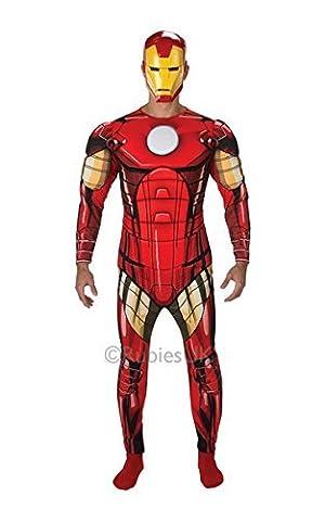 Super Deluxe Iron Man Costume - Iron Man Deluxe Std costume Adult Fancy
