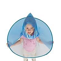 Xiluck Hands Free Umbrella, Kids Raincoat, Cute Hooded Children
