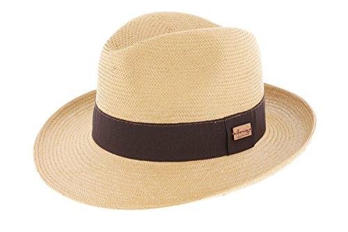 Herman Headwear - Chapeau paille Lester Tabac Herman Headwear - Beige 61 Homme / Femme