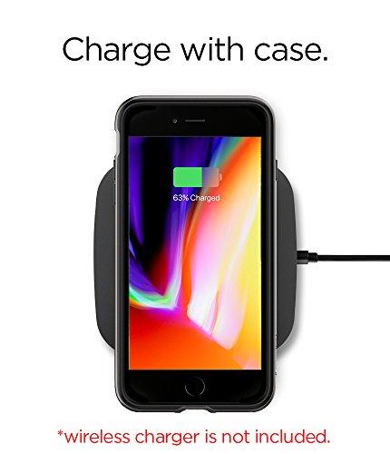 iPhone 8 / 7 Hülle, Spigen® [Neo Hybrid 2] iPhone 8 Hülle, Doppelschichter Schutz Zweite Generation des Neo Hybrid für iPhone 8 2-teilige Premium Handyhülle Schwarz Silikon TPU Schale + PC Farbenrahme NH2 Gunmetal