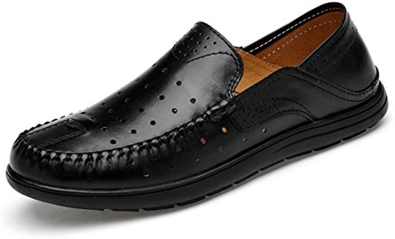 SRY-scarpe SRY-scarpe SRY-scarpe Mocassini da Guida Classici da Uomo con Bottoni Vamp Slip-on Casual Mocassini da Barca in Gomma Morbida | Speciale Offerta  ff6e74