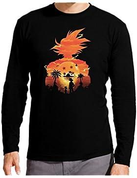 The Fan Tee Camiseta Manga Larga de Niños Dragon Ball Son Goku Anime Vegeta Piccolo Akira Toriyama