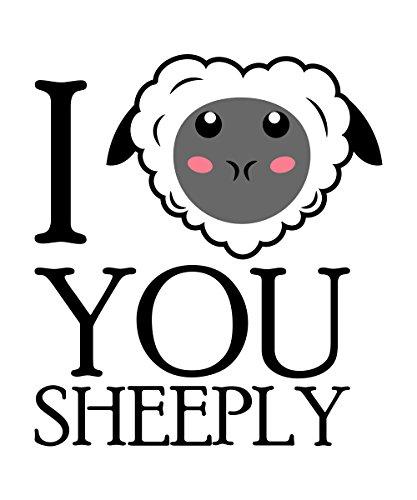 clothinx Herren T-Shirt I Love You Sheeply Weiß