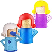 BESLIME Angry Mother Microwave Cleaner - Metro Angry Mama Microwave Cleaner Fridge Odor Absorber Cool Mom Kitchen Cleaning Tools 3pcs