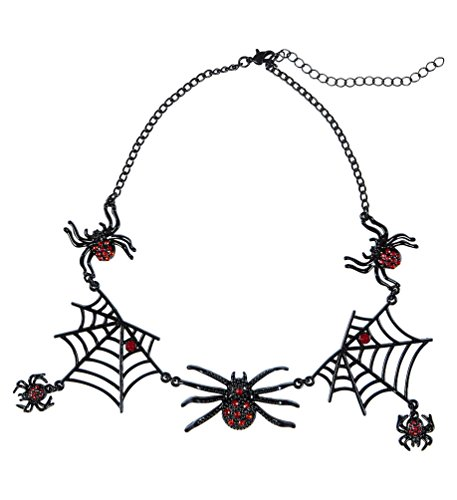 alskette Spinne Spinnenhalskette Strass Halloween (Spinne Halskette Für Halloween)