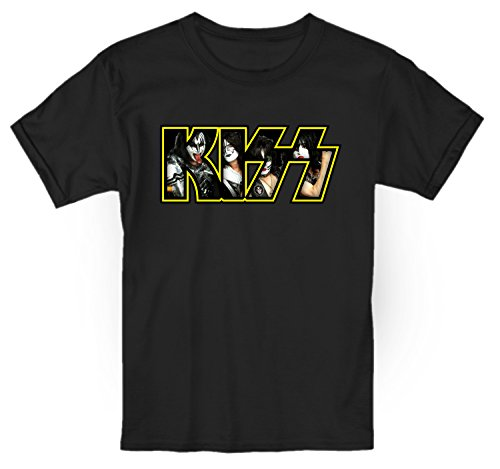 LaMAGLIERIA Camiseta niño Kiss Photo Texture - t-Shirt Kids...